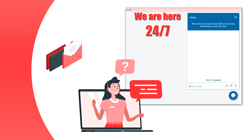 24/7 Live Chat service For more details, Super Watermarks assists you via Email support@2-b.io